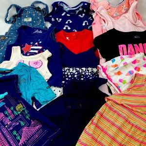 Lot Girl's 4T Clothing Summer (14ct)